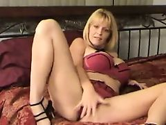 Big tittied milf on the bed. JOI