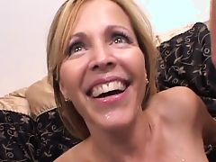 blonde milf facials